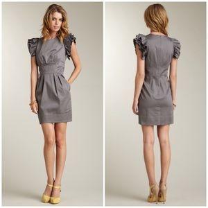 Jessica Simpson Ruffled Flutter Sleeve Dress 8